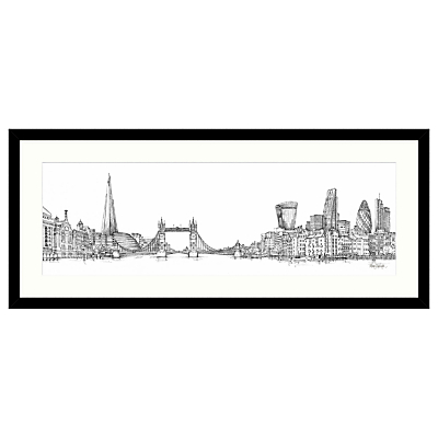 Catherine Stephenson – London Sketch Framed Print, 104 x 49cm