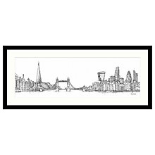 Buy Catherine Stephenson - London Sketch Framed Print, 104 x 49cm Online at johnlewis.com