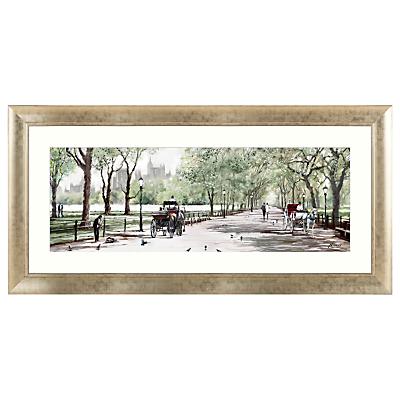 Richard Macneil – Peaceful Stroll Central Park Framed Print, 62 x 128cm
