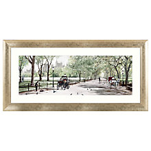 Buy Richard Macneil - Peaceful Stroll Central Park Framed Print, 62 x 128cm Online at johnlewis.com