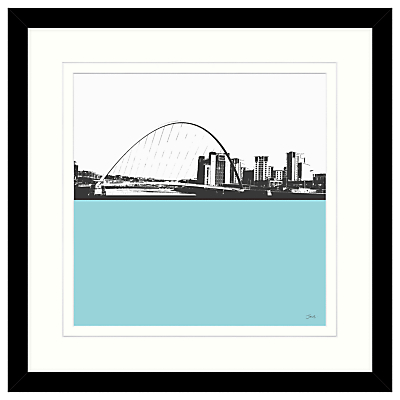 Jacky Al-Samarraie – Millennium Bridge Framed Print, 54 x 54cm