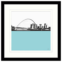 Buy Jacky Al-Samarraie - Millennium Bridge Framed Print, 54 x 54cm Online at johnlewis.com