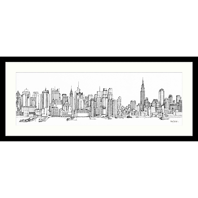 Catherine Stephenson – New York Sketch Framed Print, 104 x 49cm