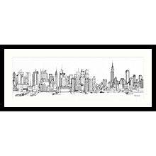 Buy Catherine Stephenson - New York Sketch Framed Print, 104 x 49cm Online at johnlewis.com