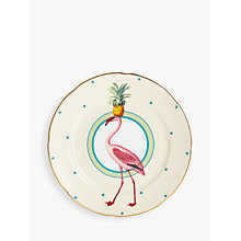 Buy Yvonne Ellen Pineapple Flamingo Cake Plate, Multi, Dia.16cm Online at johnlewis.com