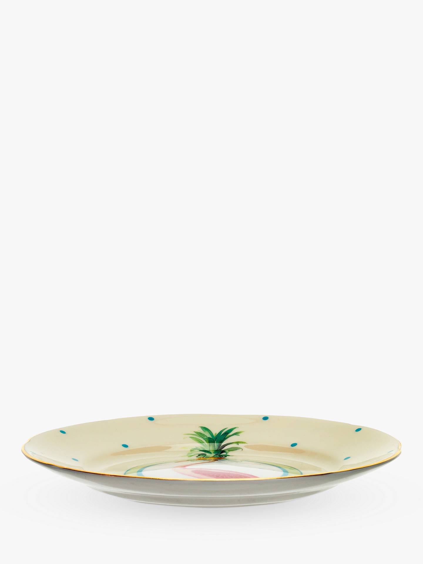 BuyYvonne Ellen Pineapple Flamingo Cake Plate, Multi, Dia.16cm Online at johnlewis.com