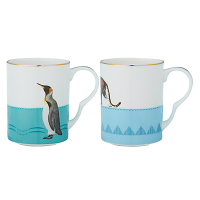 Product photo of Yvonne ellen cheetah and penguin mugs set of 2