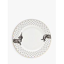 Buy Yvonne Ellen Monochrome Party Pup Dinner Plate, White/Black, Dia.26cm Online at johnlewis.com