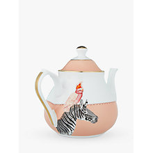 Buy Yvonne Ellen Cockatoo and Zebra Teapot, Pink/Multi Online at johnlewis.com
