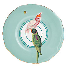 Buy Yvonne Ellen Parrots Plate, White/Multi, Dia.24cm Online at johnlewis.com