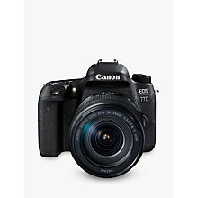 "Buy Canon EOS 77D Digital SLR Camera with EF-S 18-135mm IS USM Lens, HD 1080p, 24.2MP, Wi-Fi, Bluetooth, NFC, Optical Viewfinder, 3"" Vari-Angle Touch Screen Online at johnlewis.com"