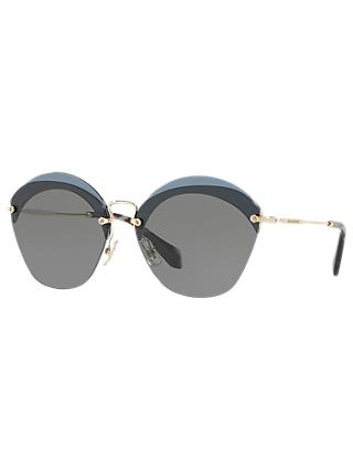 Miu Miu MU 53SS Oval Sunglasses, Grey