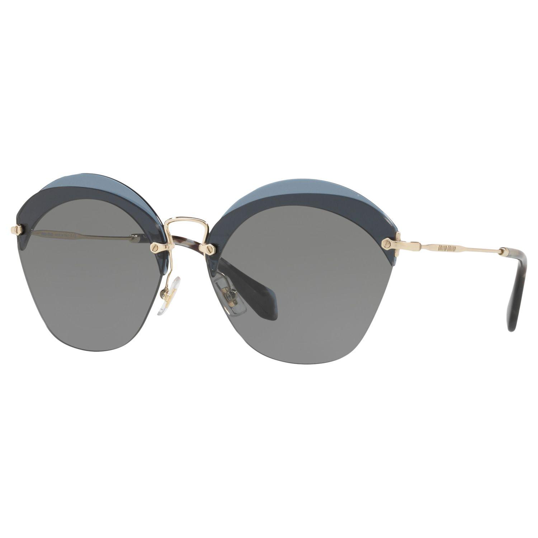Miu Miu Miu Miu MU 53SS Oval Sunglasses, Grey