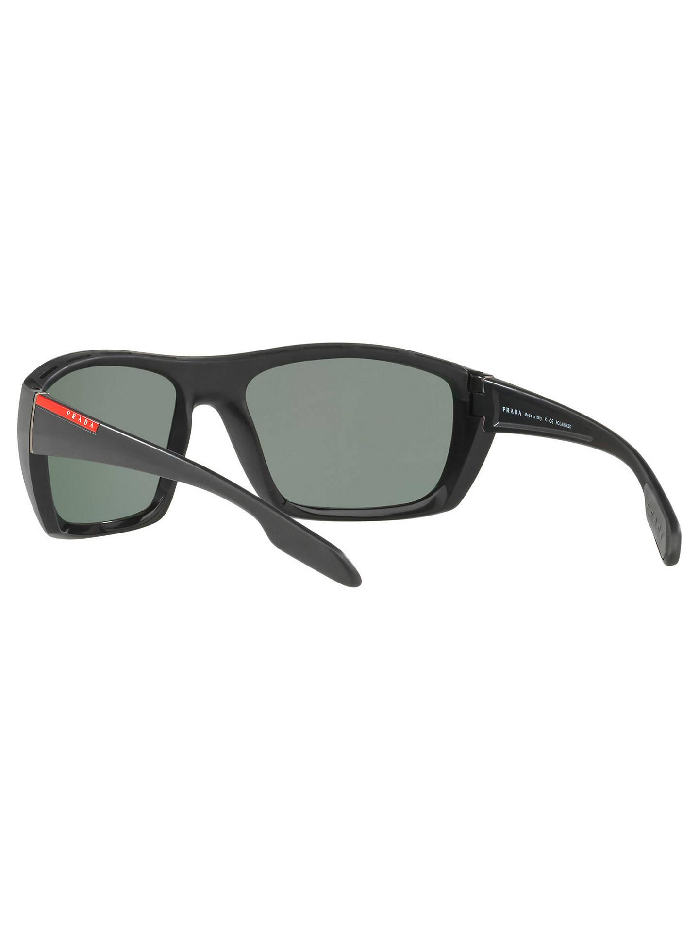 0ce578fc3f7e7 official buyprada linea rossa ps 06ss polarised rectangular sunglasses  black grey online at johnlewis. 04b26