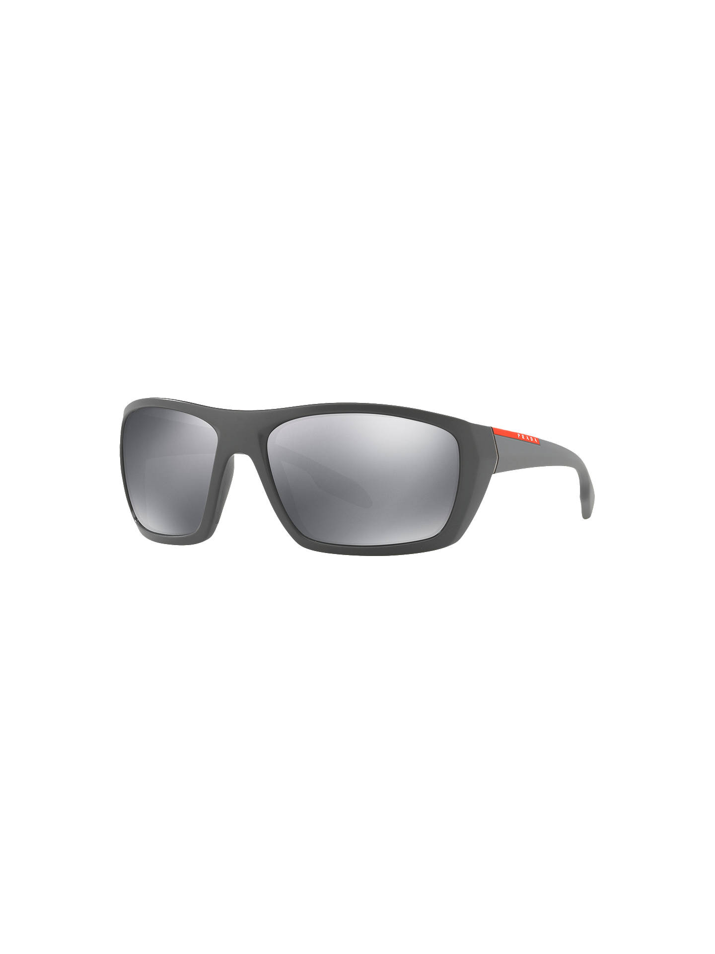 81f749507898 best buyprada linea rossa ps 06ss rectangular sunglasses grey mirror grey  online at johnlewis. 575dc