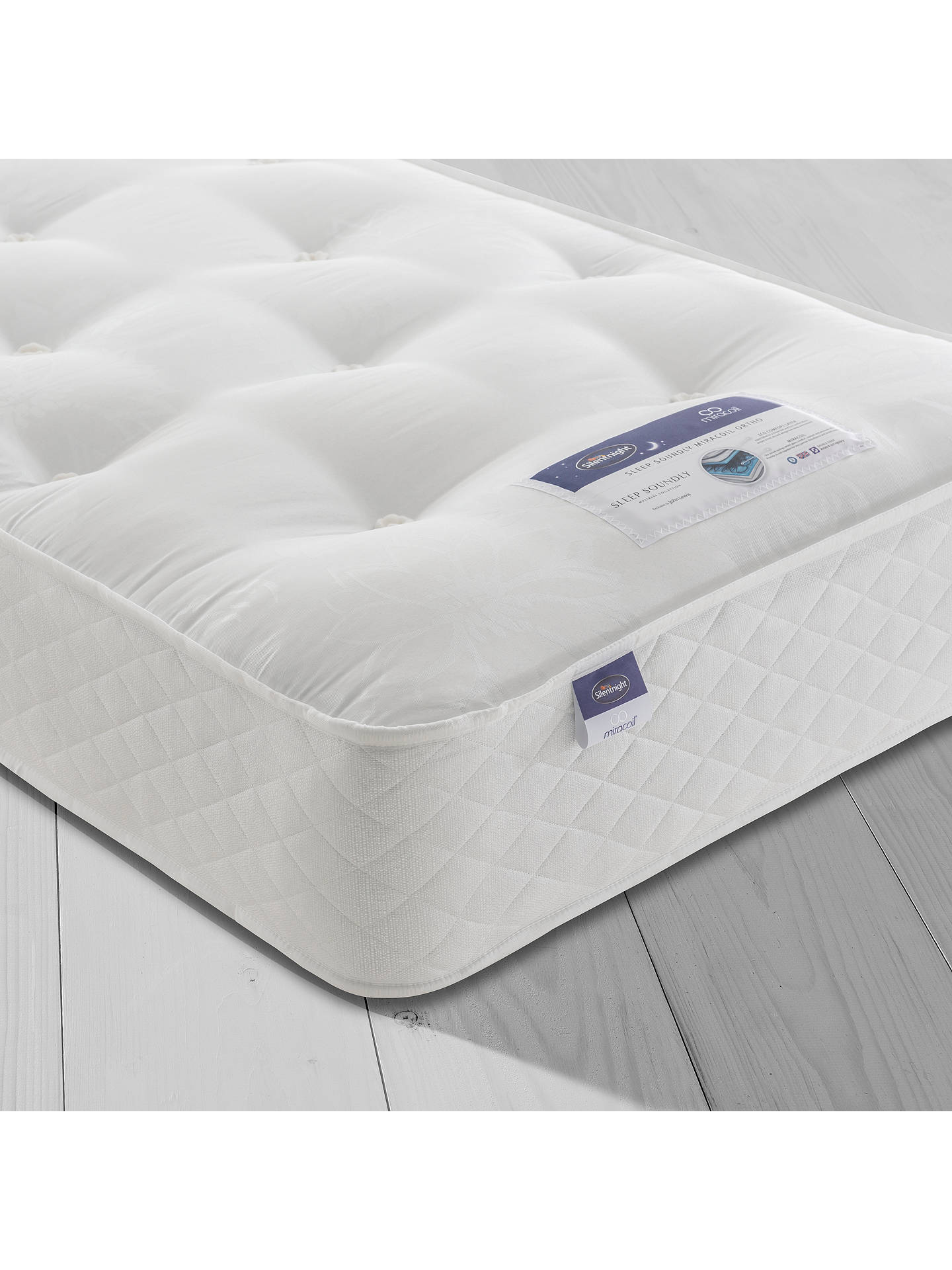 BuySilentnight Sleep Soundly Miracoil Ortho Mattress, Firm, Single Online at johnlewis.com