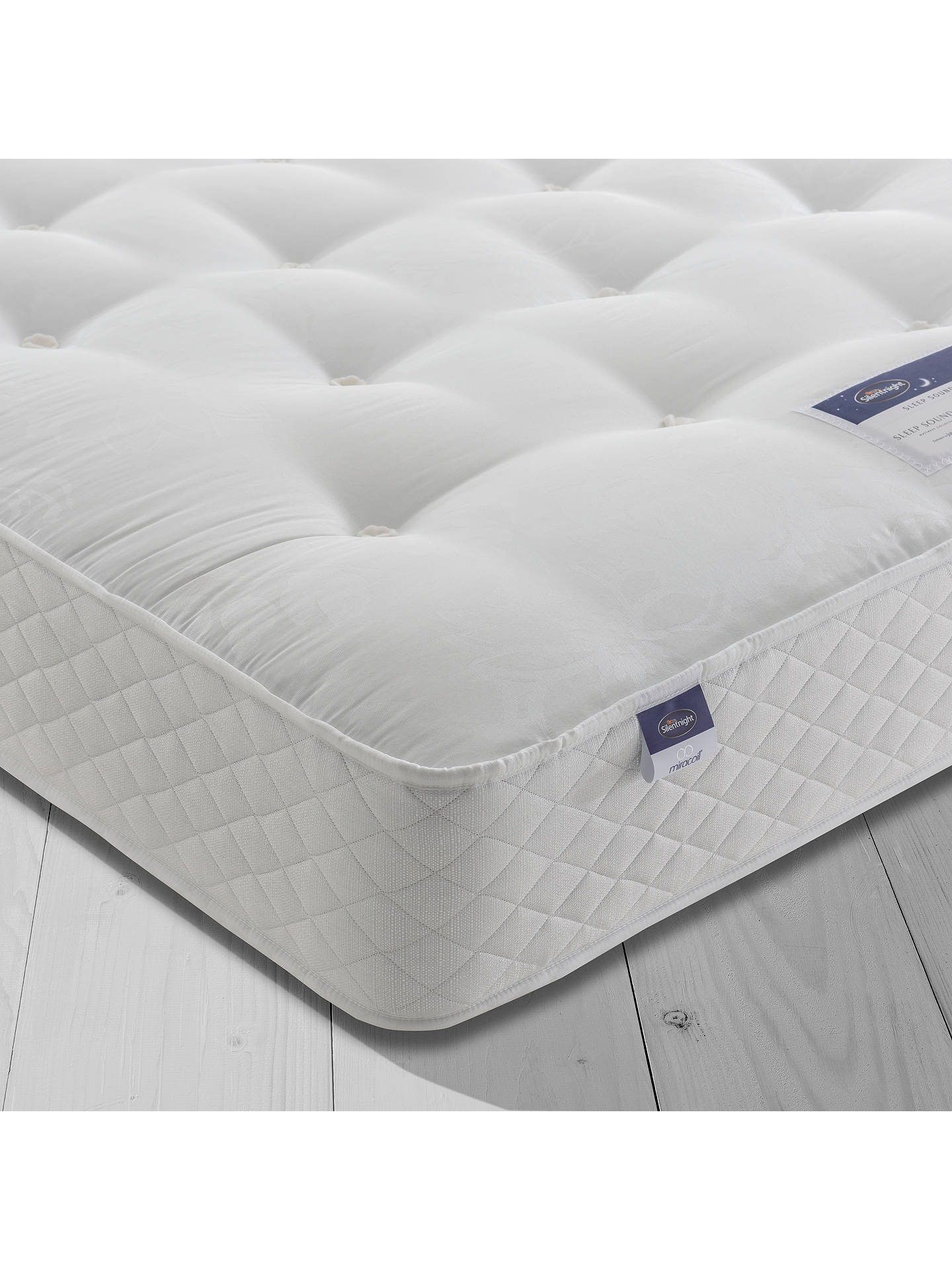 Buy Silentnight Sleep Soundly Miracoil Ortho Mattress, Firm, Super King Size Online at johnlewis.com