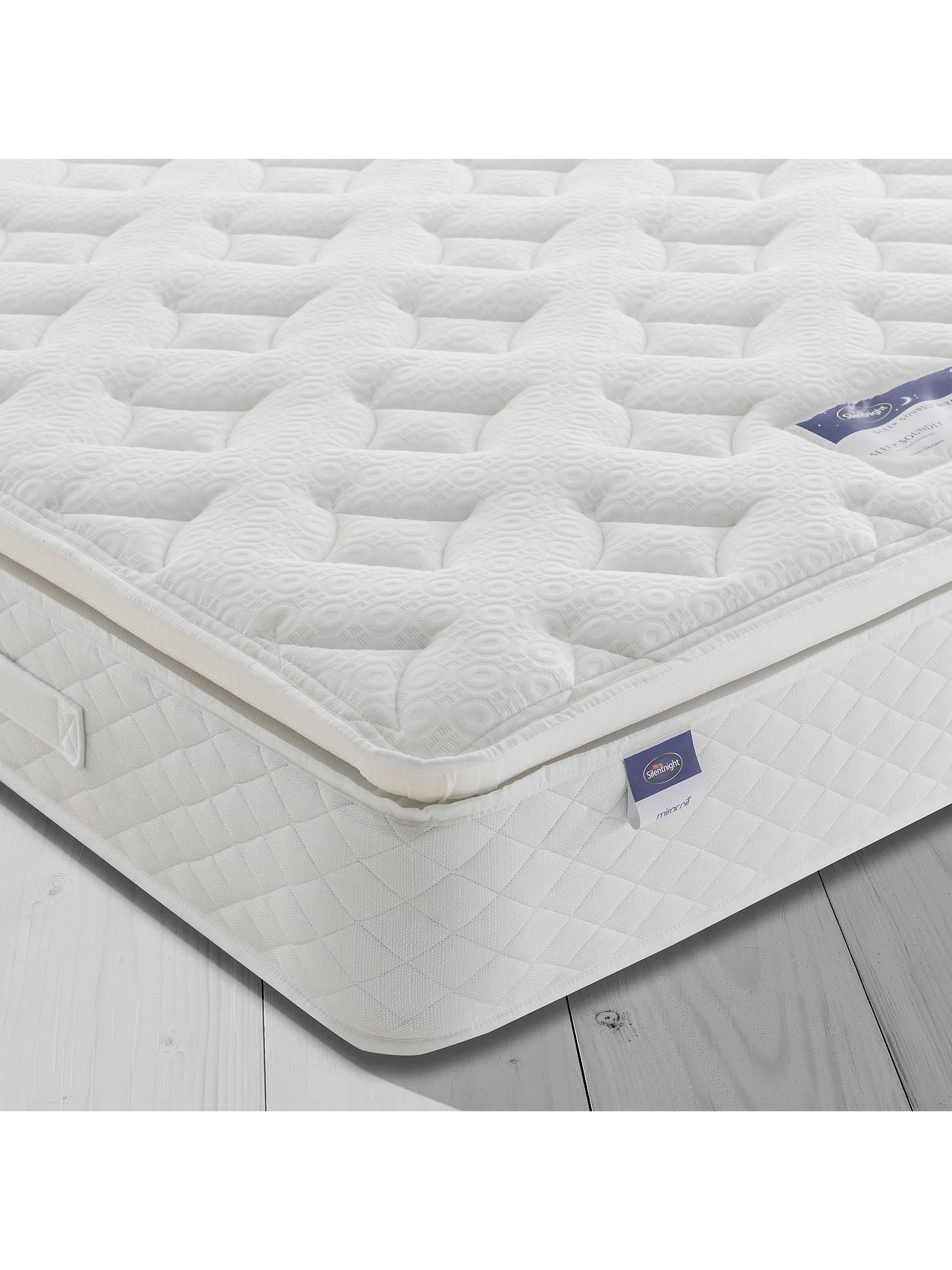 silentnight sleep soundly miracoil pillow top mattress. Black Bedroom Furniture Sets. Home Design Ideas
