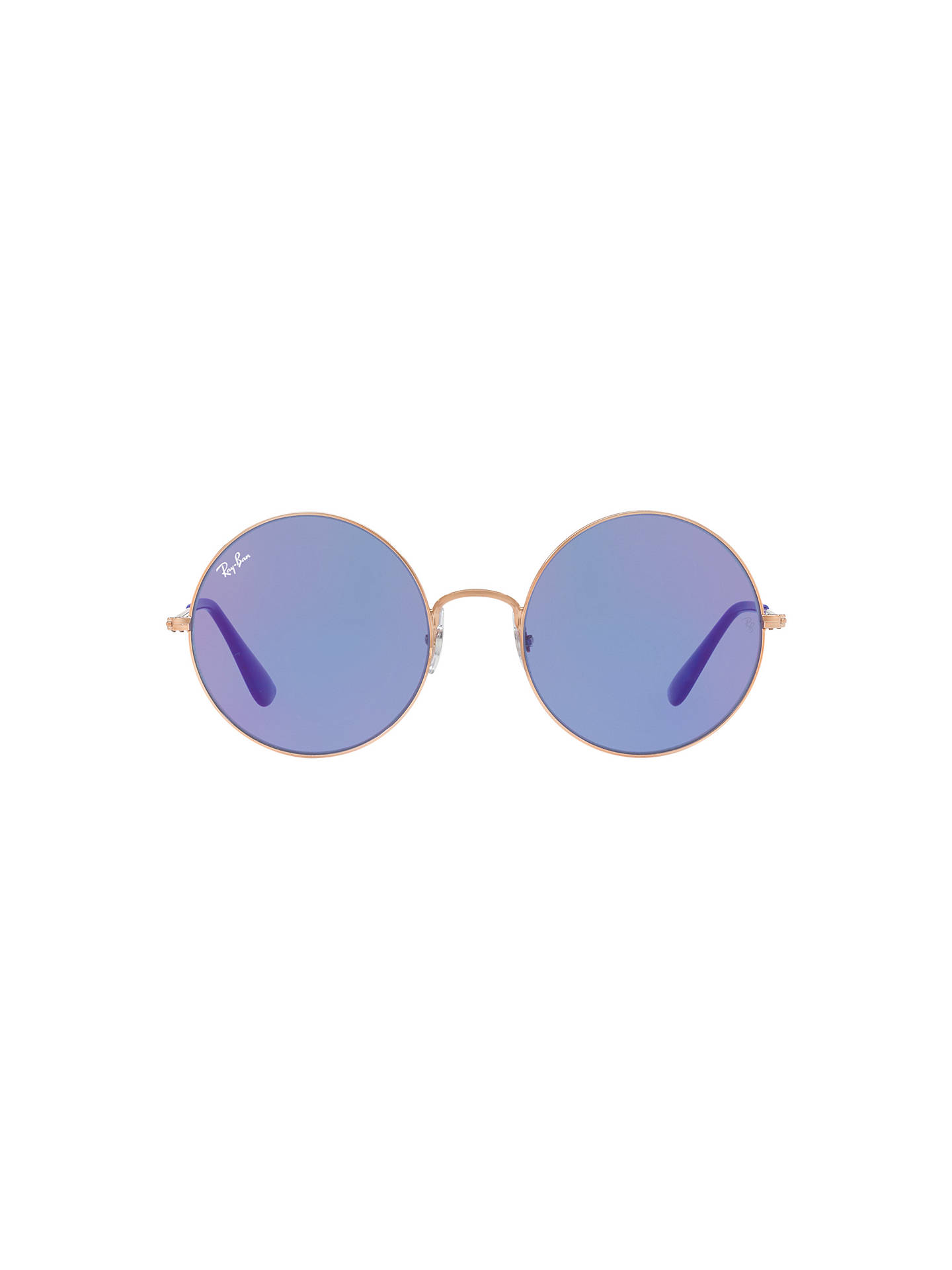BuyRay-Ban RB3592 Ja-Jo Round Sunglasses, Gold/Lilac Online at johnlewis.com