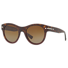 Buy Valentino VA4020 Polarised Oval Sunglasses, Tortoise Online at johnlewis.com