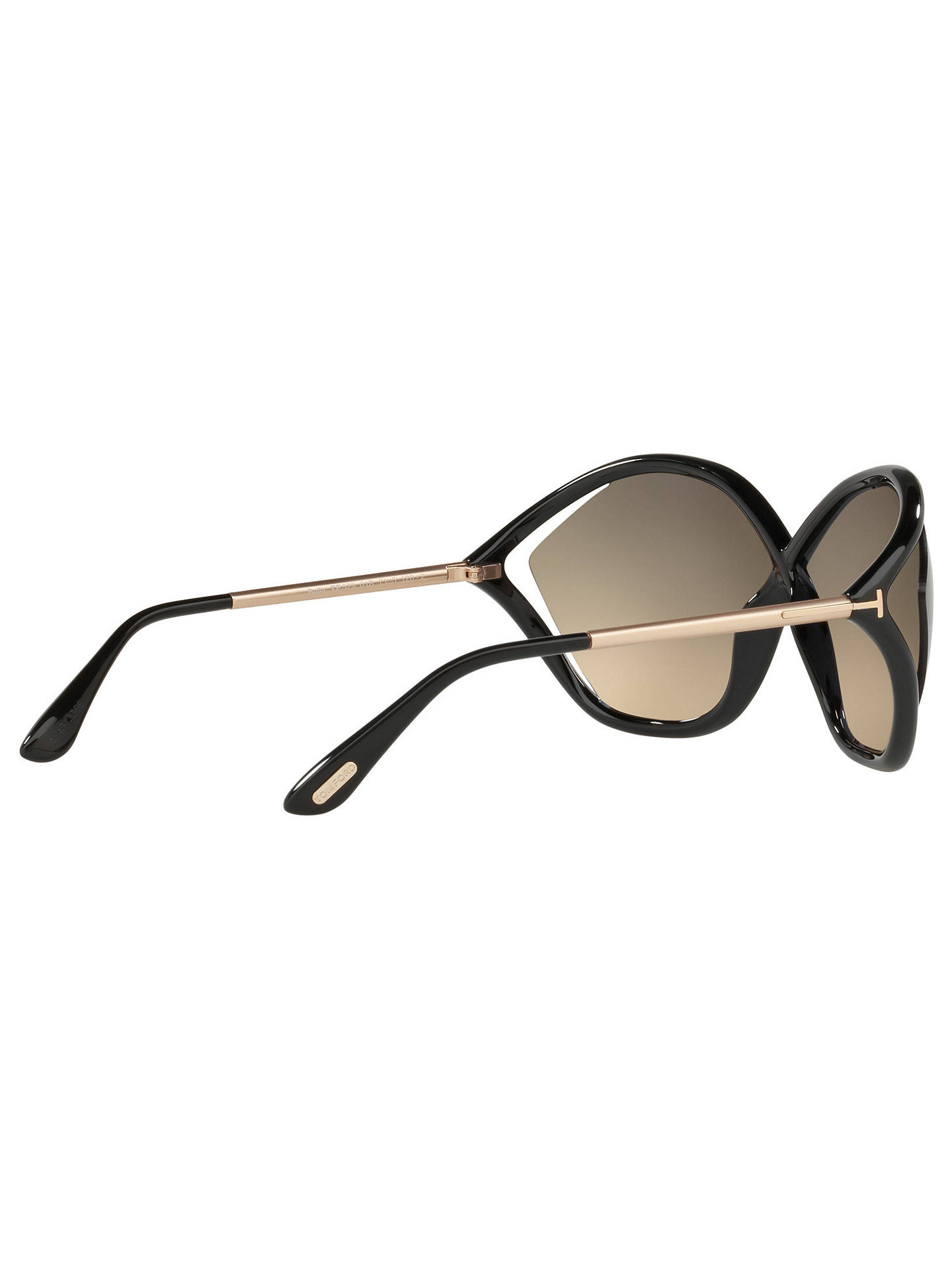 BuyTOM FORD FT0529 Bella Outsize Wrap Sunglasses, Black/Brown Gradient Online at johnlewis.com
