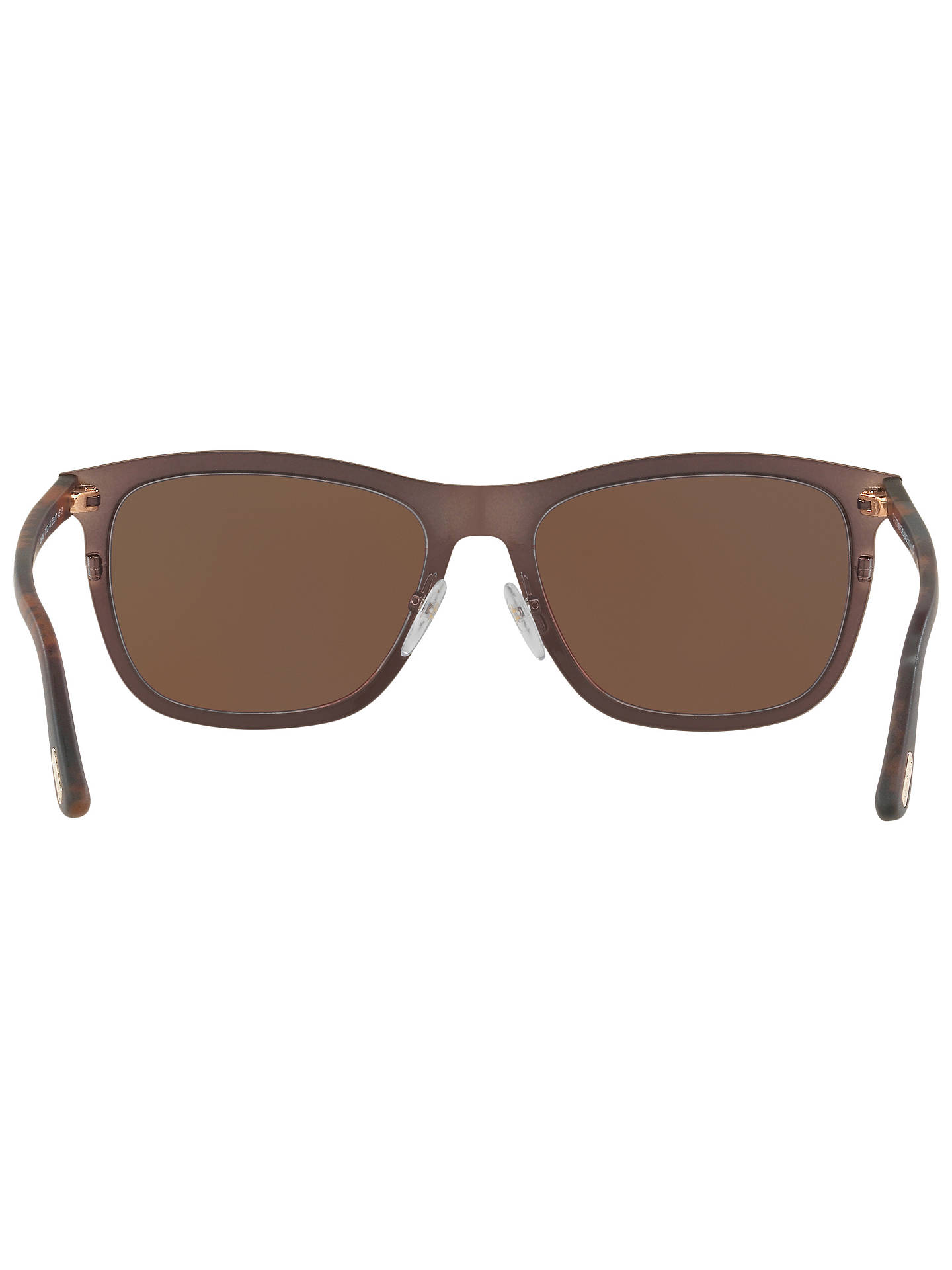 BuyTOM FORD FT0526 Alasdhair Square Sunglasses, Brown Online at johnlewis.com