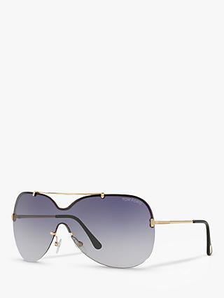 5f5ae01dd89b TOM FORD FT0519 Ondria Outsize Rectangular Sunglasses