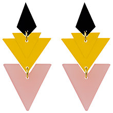 Buy Toolally Tiered Drop Earrings, Pink Frost/Yellow Online at johnlewis.com