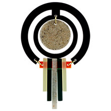 Buy Toolally Staggered Drops Brooch, Green Online at johnlewis.com