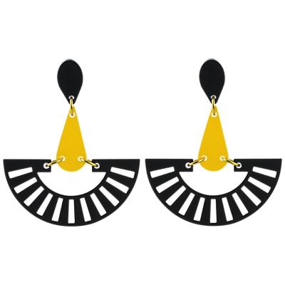Product photo of Toolally fandango drop earrings black yellow