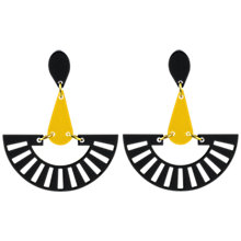 Buy Toolally Fandango Drop Earrings, Black/Yellow Online at johnlewis.com