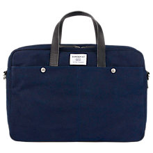 Buy Sandqvist Mats Wax Canvas Laptop Bag, Blue Online at johnlewis.com
