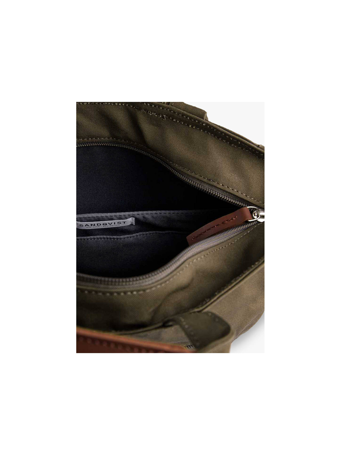Buy Sandqvist Tony Ground Organic Cotton Backpack, Olive Online at johnlewis.com
