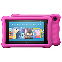 "Buy 2x Amazon Fire HD 8 Kids Edition Tablet with Kid-Proof Case, Quad-core, Fire OS, Wi-Fi, 32GB, 8"", Pinkand Yellow Online at johnlewis.com"