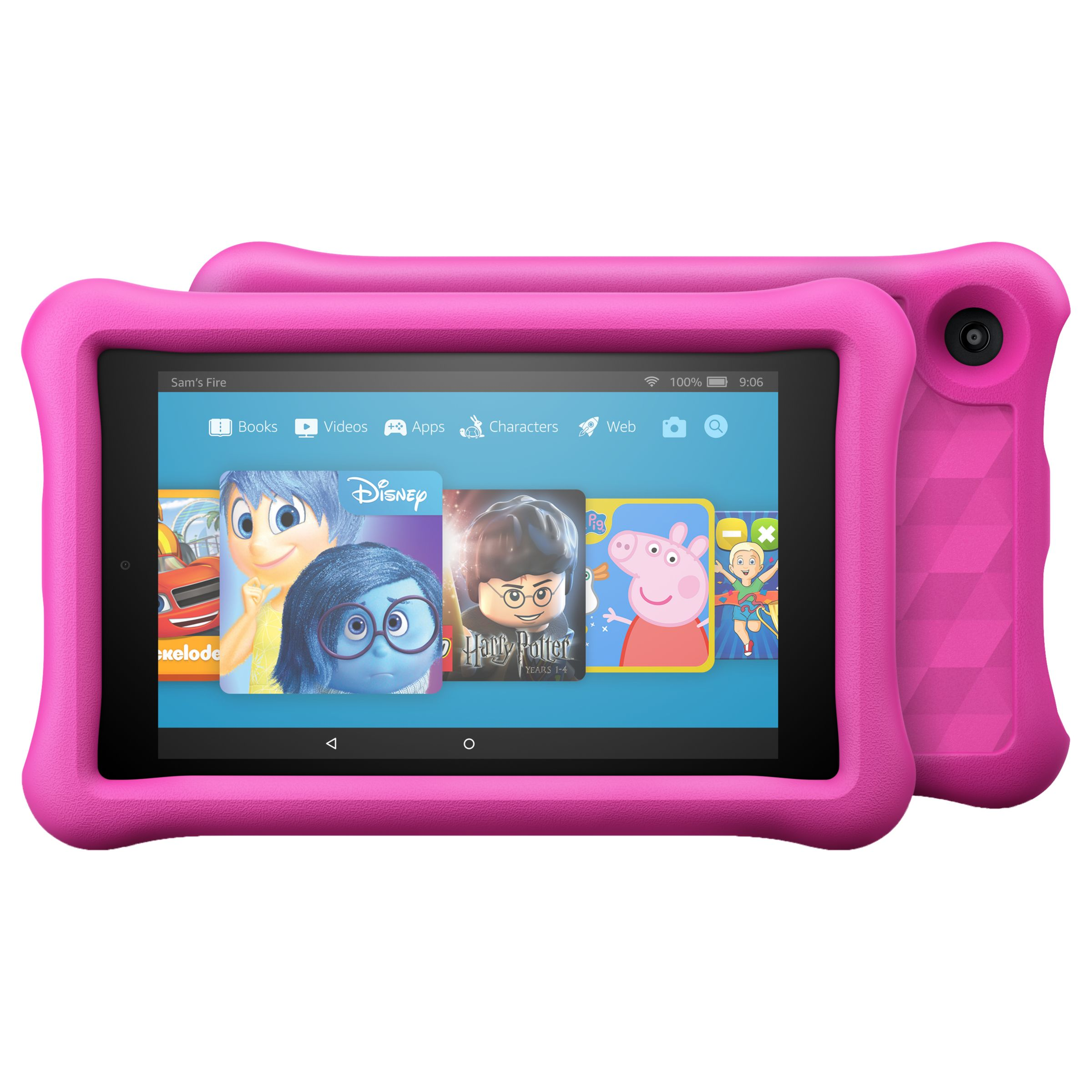 "Amazon Fire HD 8 Kids Edition Tablet with Kid-Proof Case, Quad-core, Fire OS, Wi-Fi, 32GB, 8"", Pink"