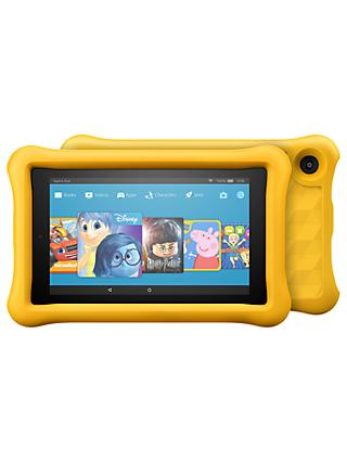 Amazon Fire 7 Kids Edition Tablet with Kid-Proof Case, Quad-core, Fire OS, Wi-Fi, 16GB, 7""