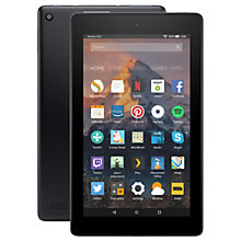 "Buy New Amazon Fire 7 Tablet with Alexa, Quad-core, Fire OS, 7"", Wi-Fi, 8GB, 7"", with Special Offers Online at johnlewis.com"