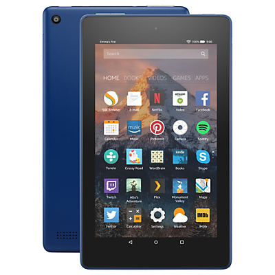 Image of New Amazon Fire 7 Tablet with Alexa, Quad-core, Fire OS, 7, Wi-Fi, 8GB, 7, with Special Offers