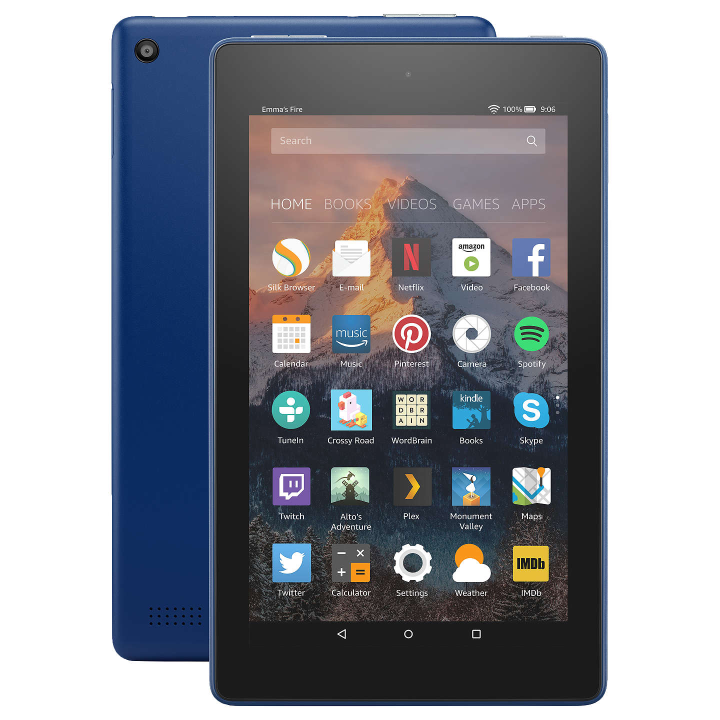 "New Amazon Fire 7 Tablet With Alexa, Quad Core, Fire Os, 7"", Wi Fi, 8 Gb, 7"", With Special Offers, Marine Blue by Amazon"