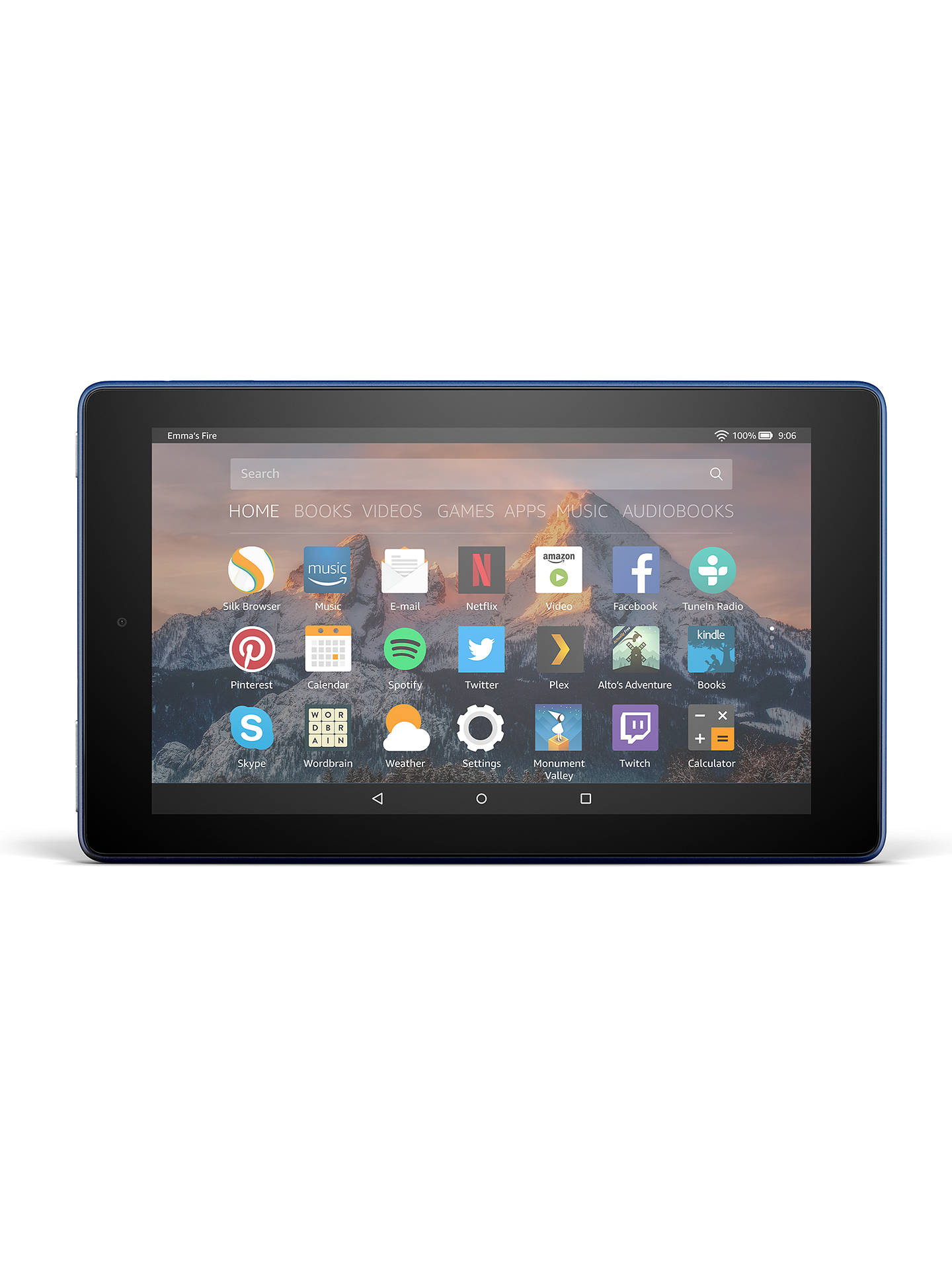 "BuyNew Amazon Fire 7 Tablet with Alexa, Quad-core, Fire OS, 7"", Wi-Fi, 8GB, 7"", with Special Offers, Marine Blue Online at johnlewis.com"
