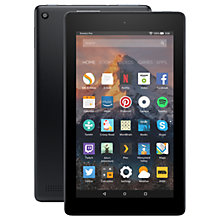 "Buy New Amazon Fire 7 Tablet with Alexa, Quad-core, Fire OS, Wi-Fi, 16GB, 7"", With Special Offers Online at johnlewis.com"