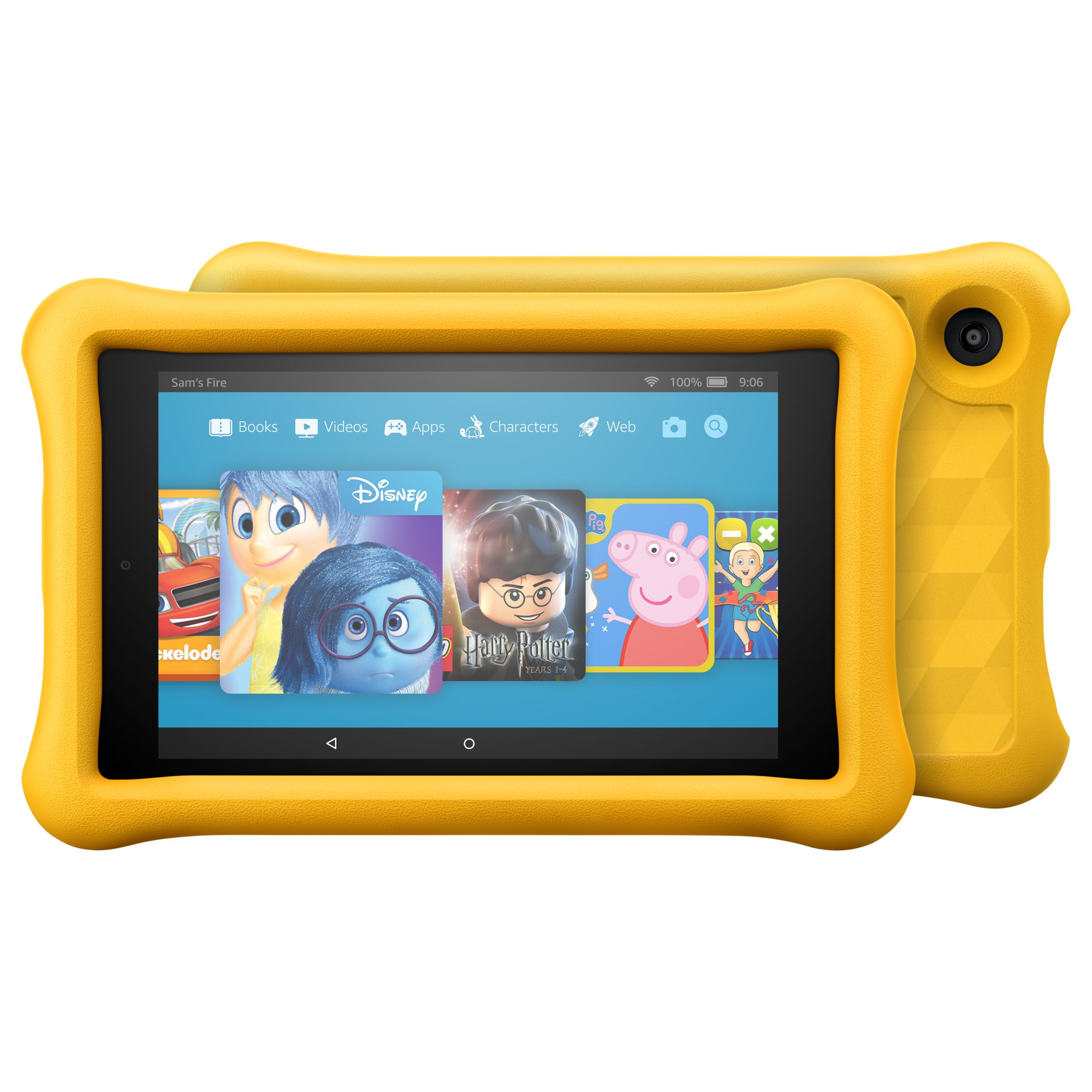 "Amazon Fire HD 8 Kids Edition Tablet with Kid-Proof Case, Quad-core, Fire OS, Wi-Fi, 32GB, 8"", Yellow"