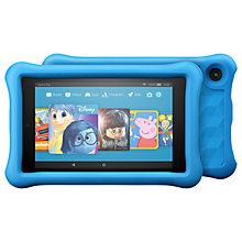 "Buy 2x Amazon Fire HD 8 Kids Edition Tablet with Kid-Proof Case, Quad-core, Fire OS, Wi-Fi, 32GB, 8"", Blue Online at johnlewis.com"