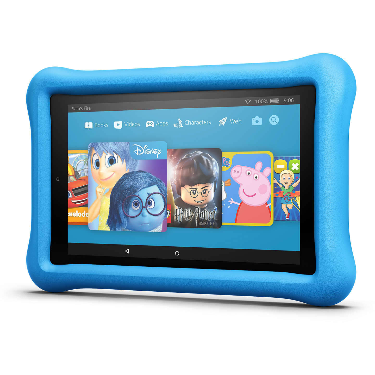 "BuyAmazon Fire HD 8 Kids Edition Tablet with Kid-Proof Case, Quad-core, Fire OS, Wi-Fi, 32GB, 8"", Blue Online at johnlewis.com"