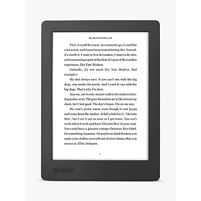 New Kobo Aura H2O eReader, Edition 2, 6.8 Carta E-Ink Touchscreen, Waterproof & Dustproof, Wi-Fi, 8GB
