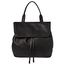 Buy Whistles Slouchy Drawstring Backpack, Black Online at johnlewis.com