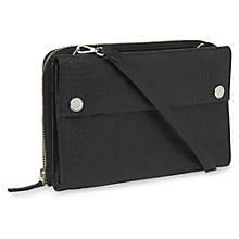 Buy Whistles Aubry Matte Croc Crossbody Bag, Black Online at johnlewis.com