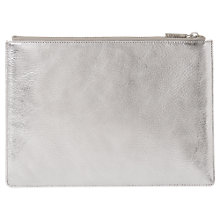 Buy Whistles Metallic Medium Leather Clutch Bag Online at johnlewis.com