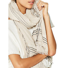 Buy Mint Velvet Oyster Stitch Border Scarf, Neutral Online at johnlewis.com