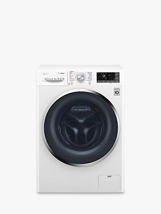 LG F4J8FH2W Freestanding Washer Dryer, 9kg Wash / 6kg Dry Load, A Energy Rating, 1400rpm Spin, White